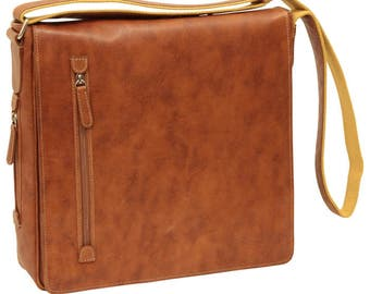 f8d7fd6c3ec5 Leather Messenger Laptop Bag Leather Bag Italian Leather Made In Italy -  SKU  0731CO