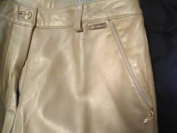 Saint John leather pants/ Saint John/ Golden leath