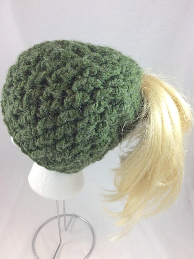 ac39b82ef1f3b Messy bun beanie ponytail beanie chunky beanie alpaca gifts