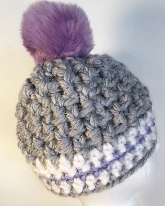 Child pompom hat Hat with pom pom crochet toddler hat child  8710dead5dd2