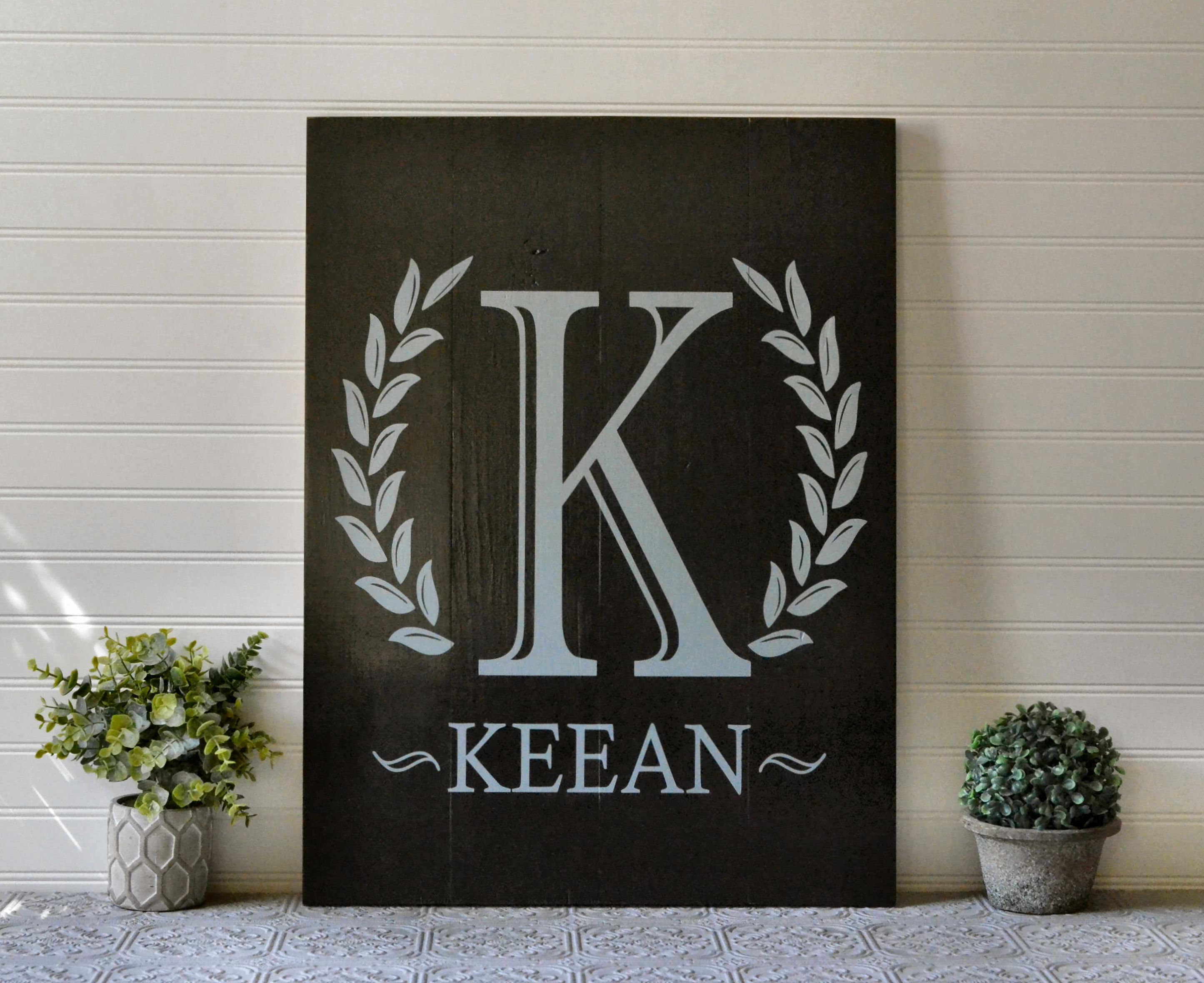Girls Bedroom Wall Decoration Personalized Initial Name
