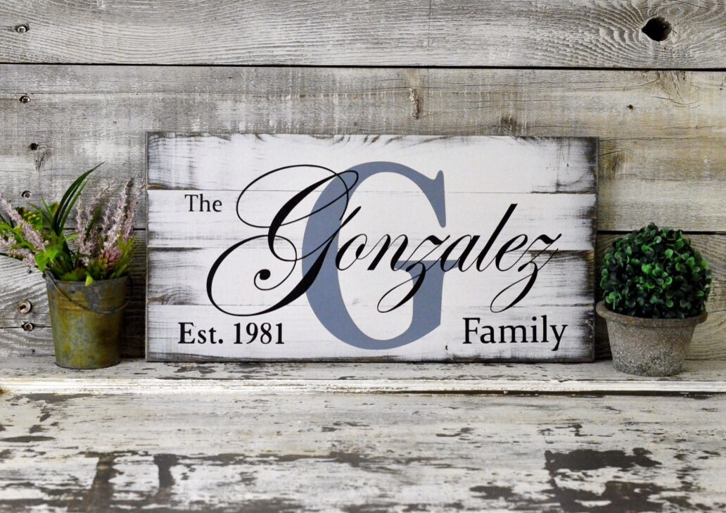 Handmade Home Decor Signs Rustic Whitewashed Hand Made Hand Painted