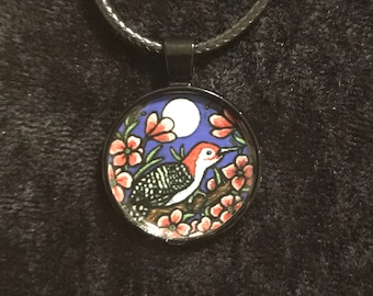 Clearance Woodpecker Pendant Necklace
