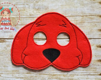 8ca84708228 Big Red Dog Inspired Masks Clifford The Big Red Dog children book Birthday  Party Idea