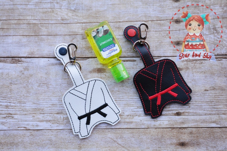 Karate hand sanitizer holder Gi hand sanitizer pouch hand sanitizer case