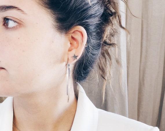 star earrings mini, woman earrings, silver earrings, gift for her, woman gift, small earrings for women