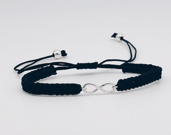 infinity bracelet, macrame bracelet, thread bracelet, friendship bracelet, infinity charm ,  women's bracelet, handmade