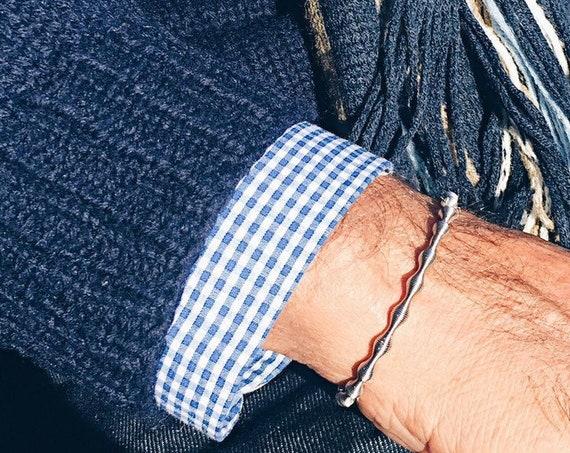 men's bracelet, women's bracelet, guitar string bracelet, elastic bracelet, industrial design bracelet, original design bracelet