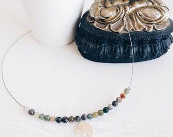 Sea Gems Rennie MacKintosh Corazón Rosa Colgante Collar de plata esterlina 6011