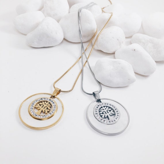 tree of life necklace, tree necklace, skim necklace, charm pendant necklace, jewelry, gift for her
