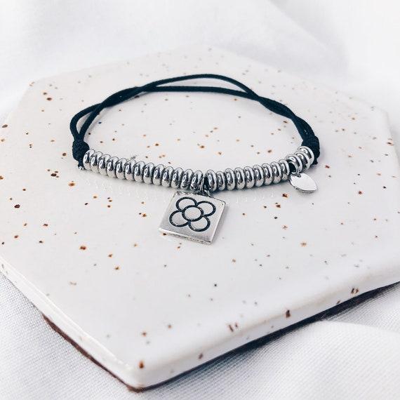 personalized bracelet, panot bracelet, Barcelona flower bracelet, Barcelona gift, elastic bracelet, thread bracelet, macrame bracelet