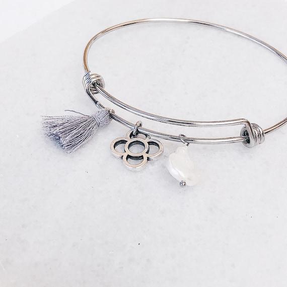 Slave pearl Bracelet, Rigid Bracelet, Rosalia, Chunky Bracelet, Barcelona panot Bracelet, Dense Clip Style, Chunky Bracelet, Statement Chain