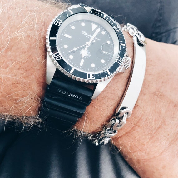 men's 316L stainless steel silver chunky cuban chain bracelet, gifts for Men, cool Mens Jewelry, cool steel Bracelet