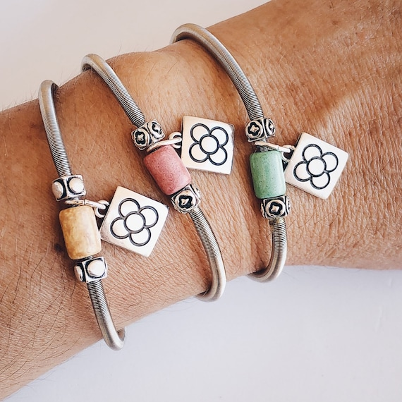 Women's clay bracelet, Barcelona flower bracelet, Barcelona panot, colored tile bracelet, Barcelona flower jewel, Barcelona gift