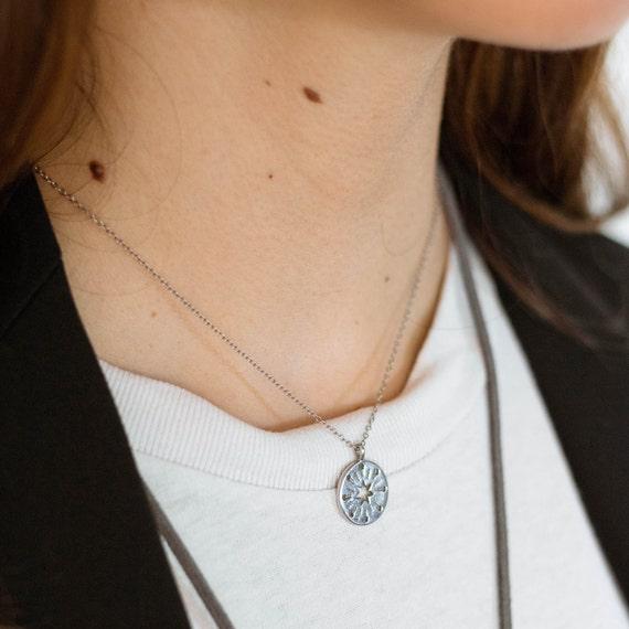 silver star necklace, star jewelry, star necklace, silver necklace, silver choker, gift for women, Barcelona jewelry