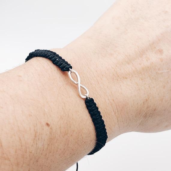 couple infinity bracelet, couple bracelet, thread bracelet, friendship bracelet, infinity charm, best friend infinity bracelet, gift for two