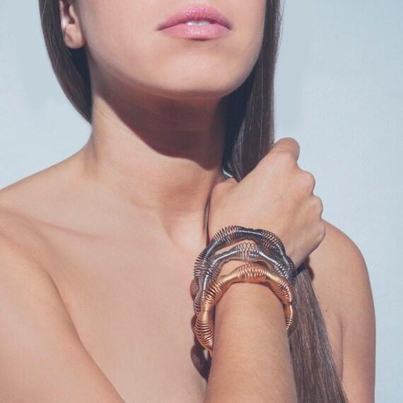 gold plated bracelet, gold steel bracelet, woman wide bracelet, original gift bracelet, elastic bracelet, stainless steel bracelet