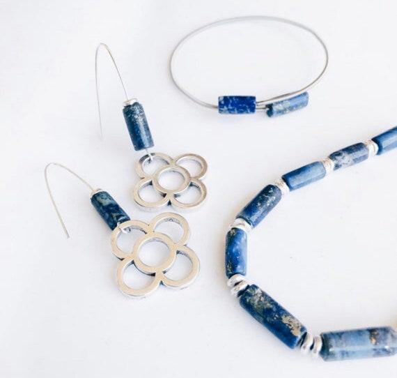 lapislázuli set, jewelry set, set, jewelry, contemporary jewelry set, silver set, hand crafted jewelry, gift pack