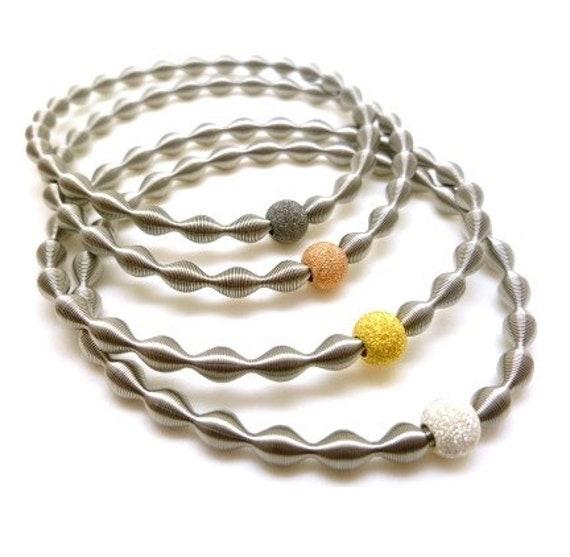 women's bracelet original, guitar string bracelet, elastic bracelet, industrial design bracelet, original design bracelet