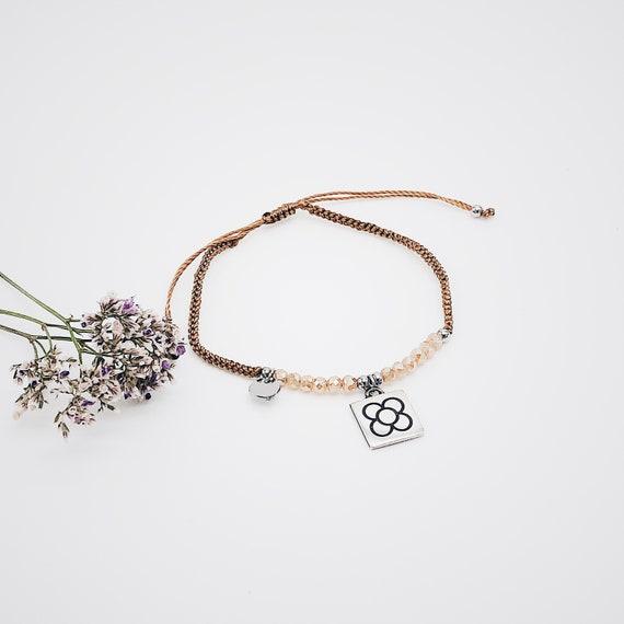 panot bracelet, Barcelona panot thread bracelet, Barcelona flower thread bracelet, panot flower, Barcelona thread , BARCELONA bracelet