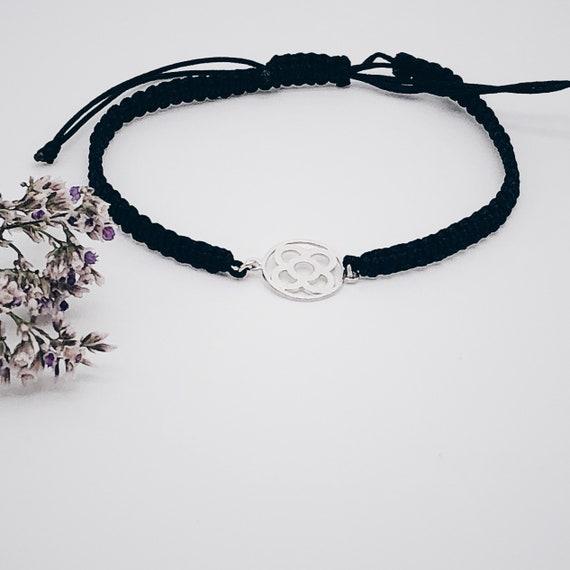 Barcelona flower thread bracelet, thread bracelet, charm Barcelona bracelet, gift Barcelona, flower panot bracelet, Barcelona