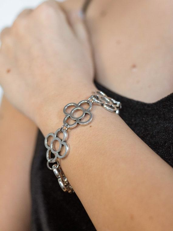 Barcelona flower bracelet, Barcelona panot bracelet, links bracelet, Barcelona souvenir bracelet, flowers bracelet, Barcelona souvenir