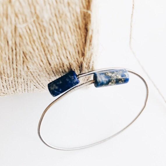 Lapislazuli bracelet, minimalist bracelet, slave bracelet, slave, bracelet with natural stones, woman's gift, lapis lazulis jewel