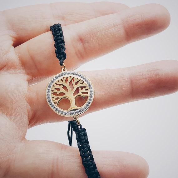 tree of life bracelet, tree of life charm bracelet, thread tree of life bracelet, tree bracelet, life bracelet, family bracelet, tree