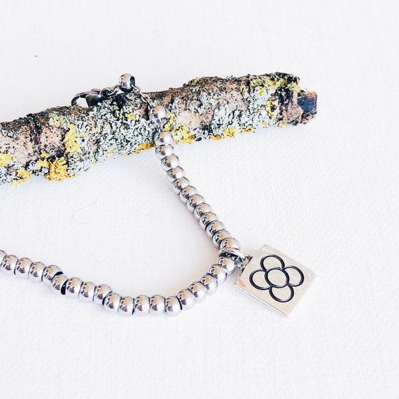 bracelet balls,  bracelet flower of Barcelona, bracelet panot Barcelona, bracelet chain balls, silver bracelet
