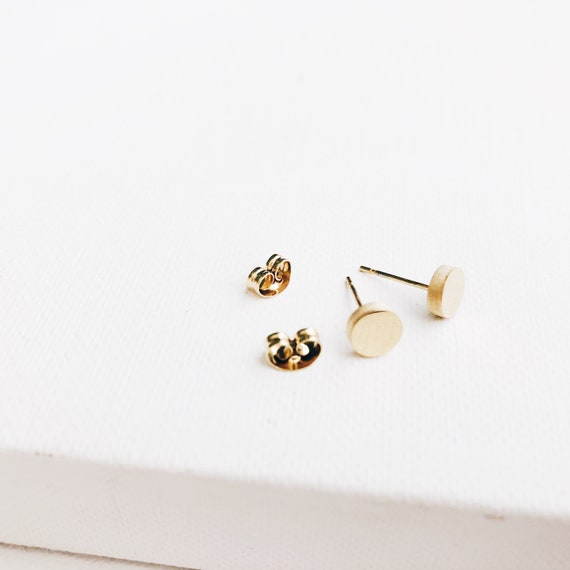 minimal earrings for girls or women, if you like minimal earrings. Pair of tiny second hole earrings for men or women.