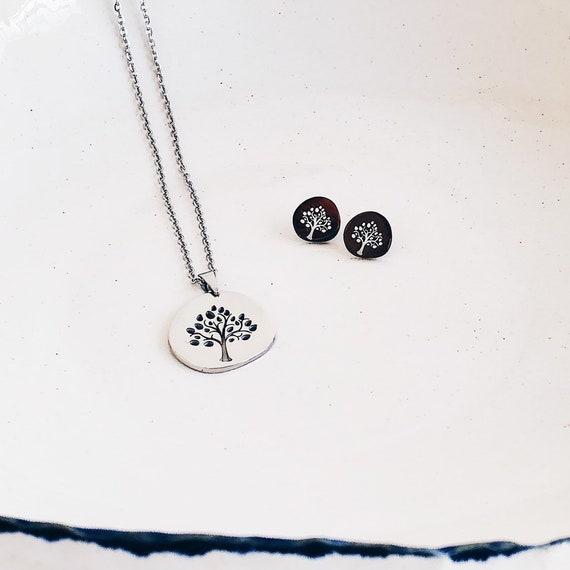 tree of life earrings, woman earrings, small earrings, silver earrings, tree of life gift