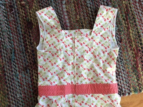 Vintage Rockabilly Sun Dress Strawberries and Pol… - image 4
