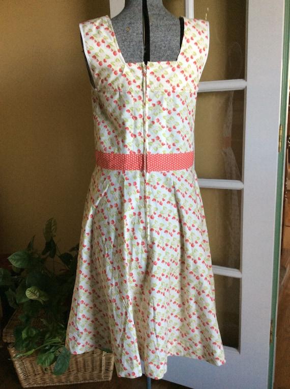 Vintage Rockabilly Sun Dress Strawberries and Pol… - image 3