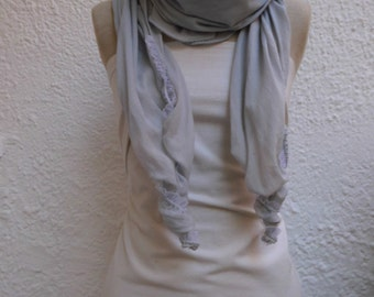 Cloth Clarissa ladies delicate aqua cotton with lace end ideal also for yoga