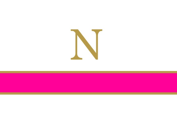 Classic Preppy Hot Pink and Gold