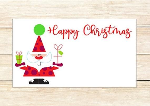Gift Enclosures Santa Happy Christmas