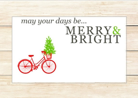 Gift Enclosures Merry & Bright Bike