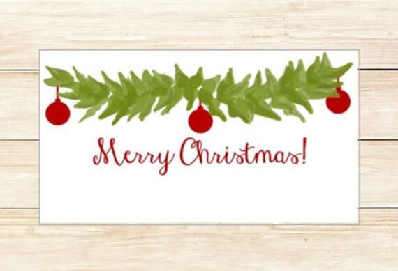 Gift Enclosures Christmas Greenery