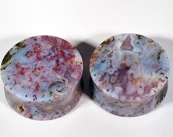 28mm (1-1/8Inch) Hungarian Agate Stone Plugs.  14mm wearable surface.