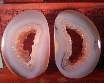 70mm Agate Geode Stone Plugs 14mm wearable surface.