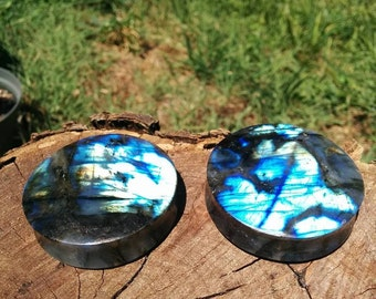 50MM (2 Inch) Labradorite Stone plugs