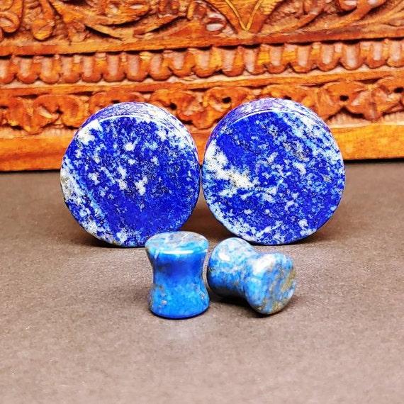 Blue Lapis Double Flare Plugs