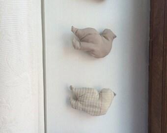 """wall decor - fabric """"Campo-Venezia"""" framework8 birds"""