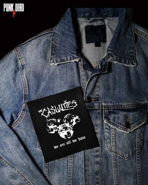 El Parche De Las Victimas Parche Punk Parches De Espalda Etsy