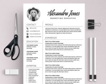 elegant resume template creative resume cv template cover letter ms word on mac pc modern resumes instant download