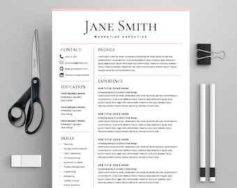 professional resume template ms word compatible best cv etsy