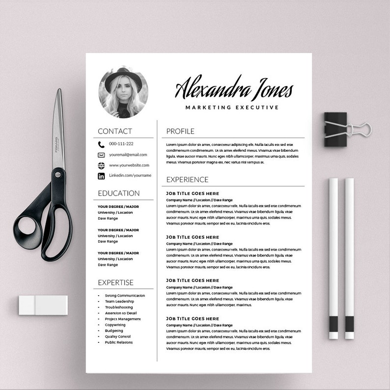 Elegant Resume Template Creative CV