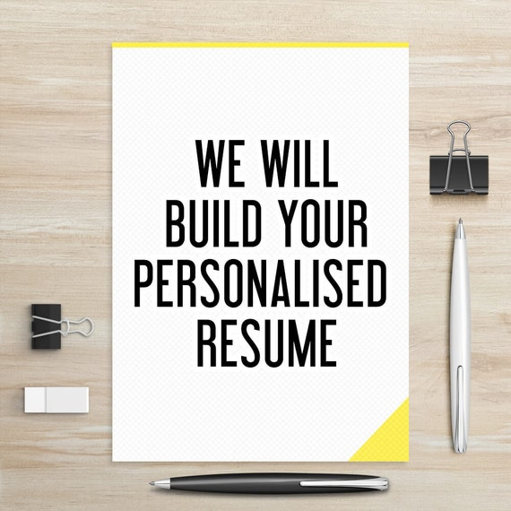 resume builder create a resume resume services make a etsy
