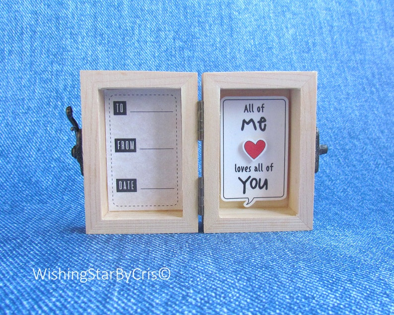 3D unique love card A little message to tell All of me Loves all of you Birthday card Funny Valentine/'s day Love card Gift for himher