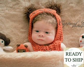 Baby Ewok Hood Crochet Baby Halloween Costume Infant Baby Boy Baby Girl Costume Photo Prop Photography Prop Baby Shower Gift READY TO SHIP  sc 1 st  Etsy & Baby Ewok Outfit Halloween Costume Ewok Hood and Diaper Cover | Etsy
